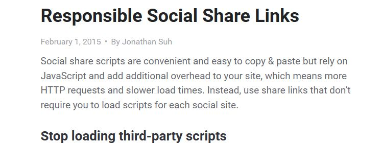 Responsible social share links by Jonathan Suh