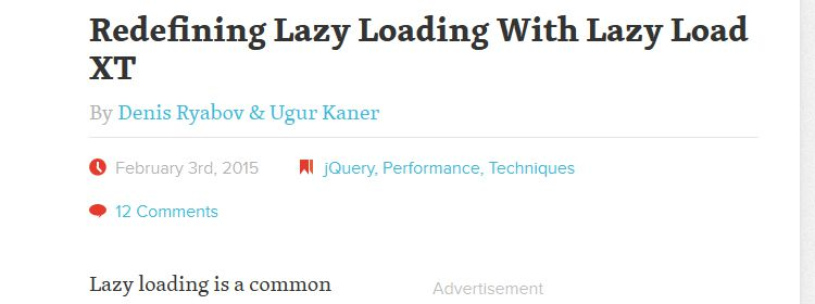 Redefining lazy loading with lazy load XT by Denis Ryabov