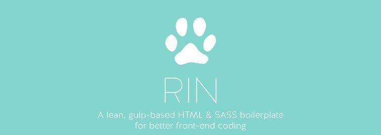 Rin, a lean, gulp-based HTML and SASS boilerplate