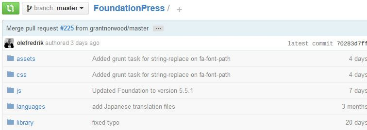 FoundationPress, a WordPress starter theme based on Foundation 5 by Zurb