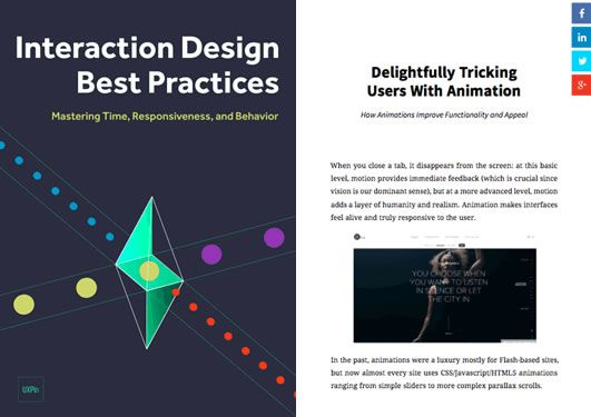 Free Ebook: Interaction Design Best Practices - Time & Behavior