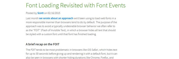 Font Loading Revisited with Font Events from Filament Group
