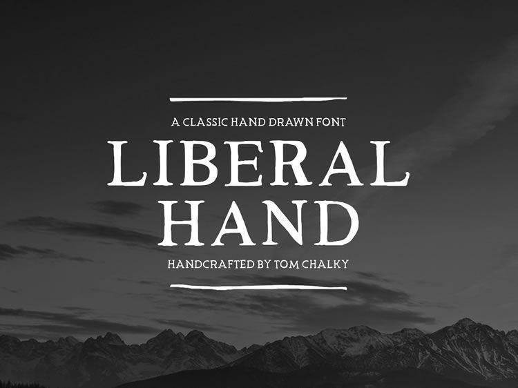 Freebie: Liberal Hand Serif Font