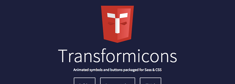 Transformicons Animated icons symbols buttons using SVG CSS