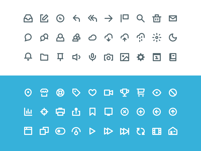 Freebie: Vicons, 60 Icons, Sketch