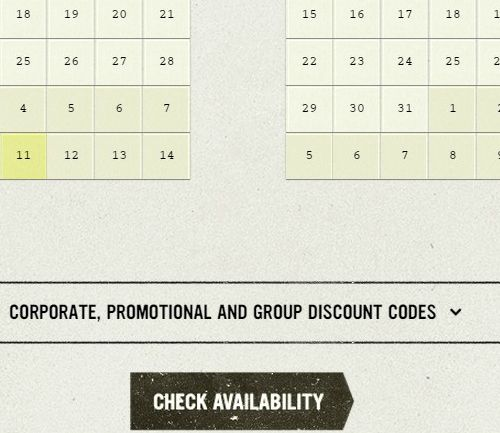 optional promotional code fields