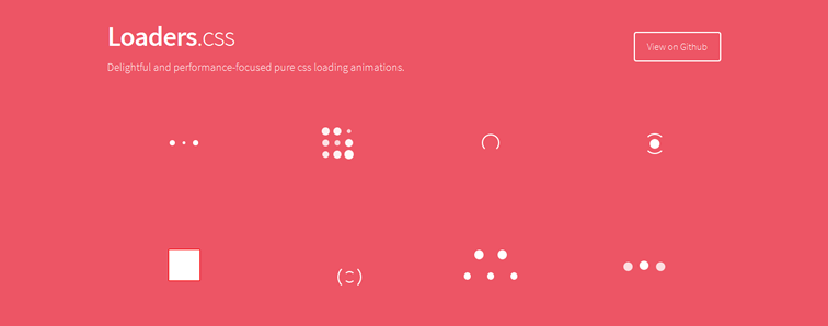 Loaders.css, a collection of performance-focused pure css loading animations