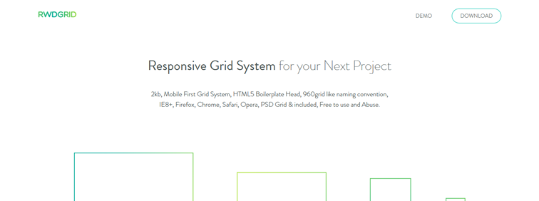 RWDGRID, a responsive grid system based on the 960 grid system