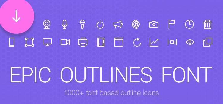 Freebie: Epic Outlines Font