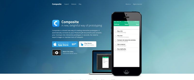 Composite ultimate iPhone app prototyping tool Photoshop