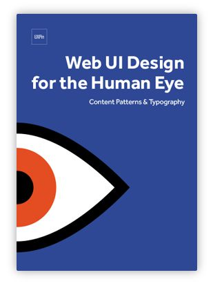 Free e-book: Web UI Design for the Human Eye Layout Patterns & Typography