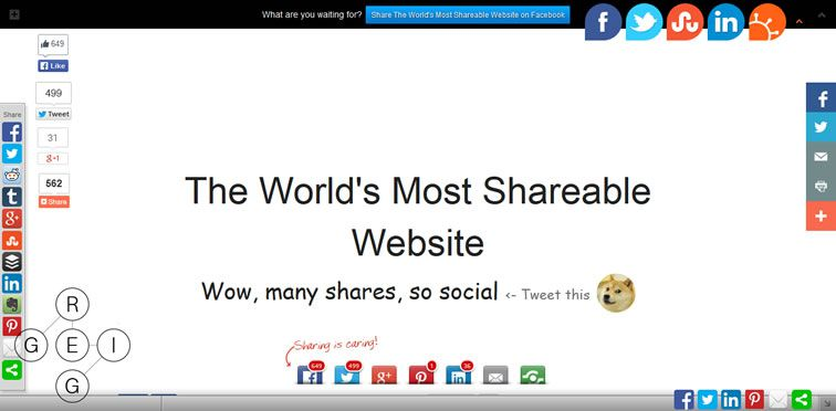 The World's Most Shareable Website
