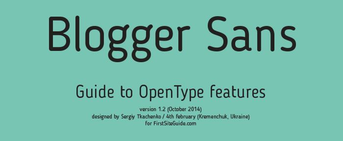 Free Font: Blogger Sans
