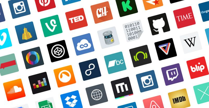 Freebie: Major Websites Icon Set