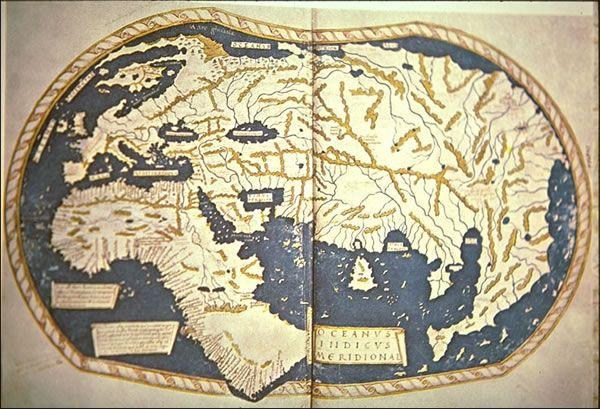 Henricus Martellus' World Map, 1489