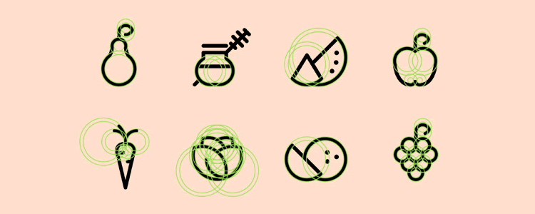 Organic Food Icon Set