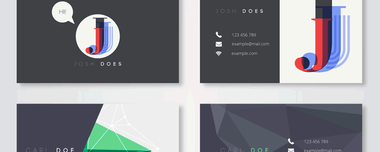 30 Elegant & Modern Business Card Templates