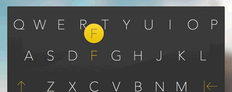 iOS Keyboard Mockup