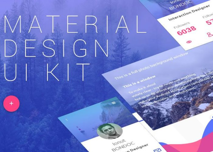 The Free Material Design UI Kit (Photoshop PSD)
