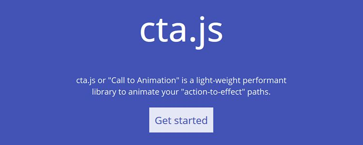 cta.js a lightweight library for animating