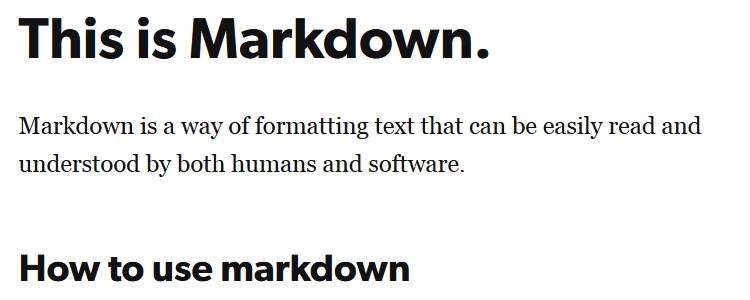 This is Markdown