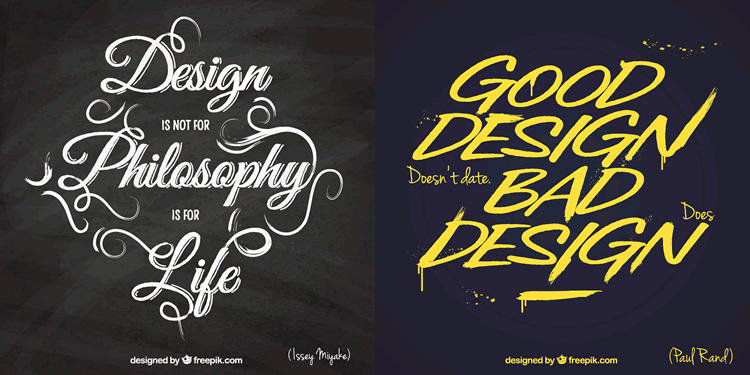Freebie: 10 Typographic Design Quote Templates