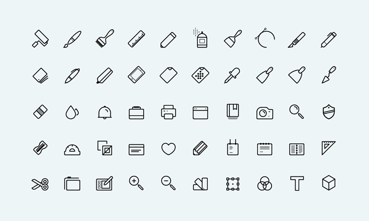 Line-Styled Art Icons