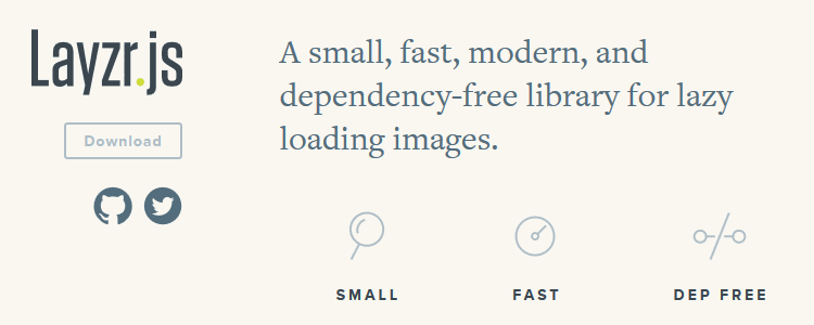 Layzr.js, a small dependency-free library for lazy loading images