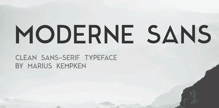 Freebie: Moderne Sans Typeface