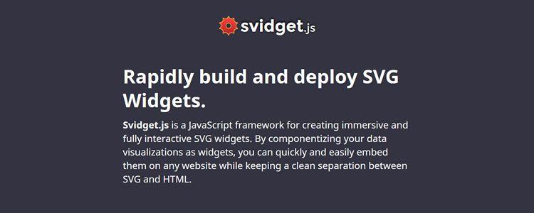 Svidget.js JavaScript framework building fantastic SVG widgets