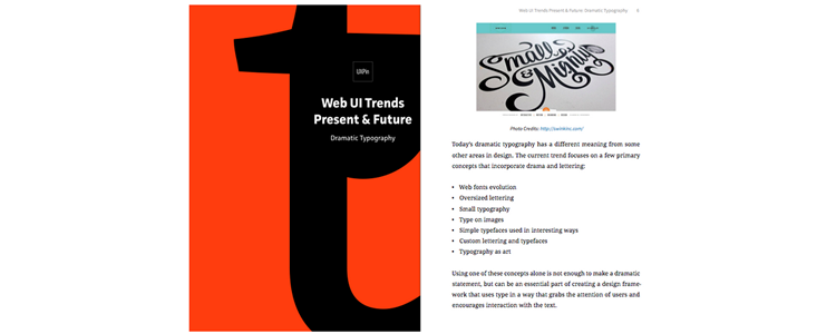 Free Ebook: Web UI Trends Present & Future (Typography)