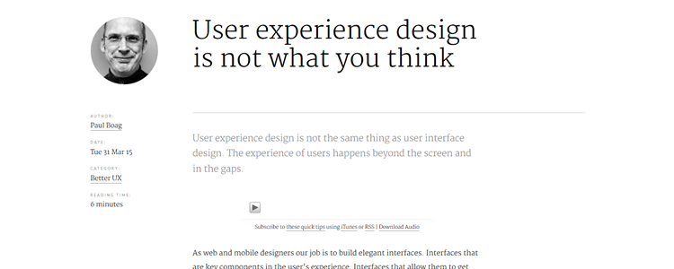 User experience design is not what you think