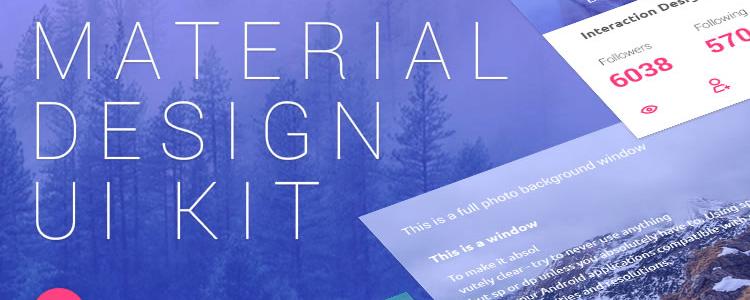 Freebie: Material Design UI Kit PSD