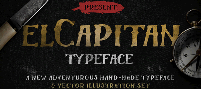 El Capitan - Hand-Drawn Font