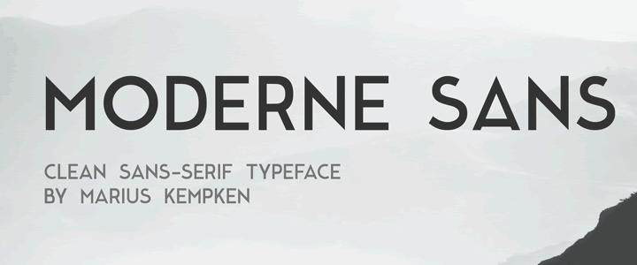Moderne Sans - A Clean Sans-Serif Typeface