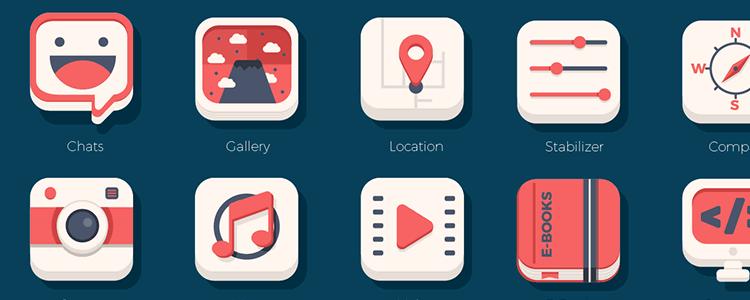 Flat iOS Icon Set
