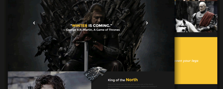Game of Thrones Responsive Template HTML