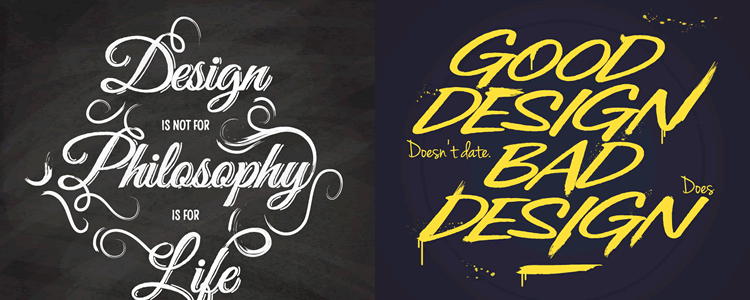 10 Typographic Design Quote Templates
