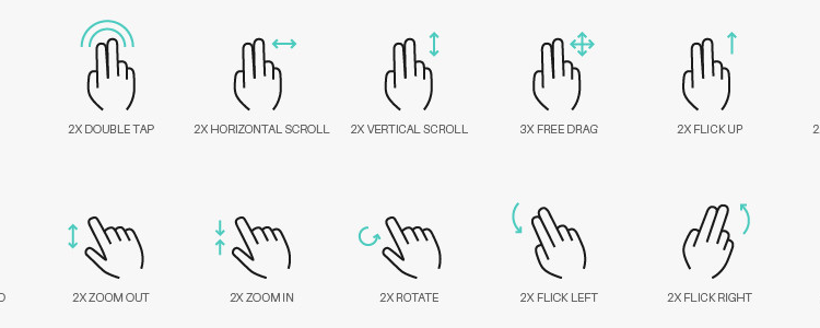 Gesture Icon Set 50 Icons, AI