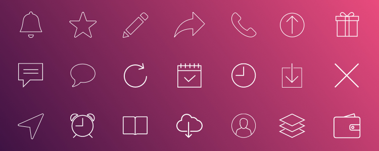 iOS7 Line Icons 35 Icons, Sketch