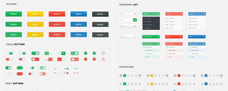 Spot UI Kit Photoshop PSD