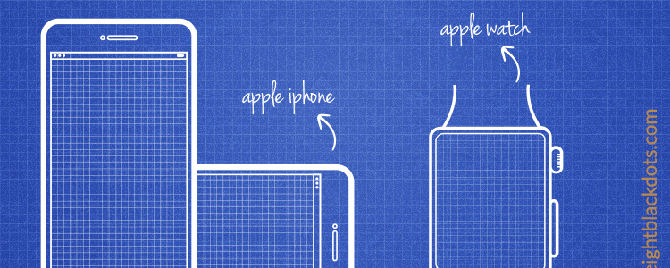 iPhone and Apple Watch Wireframe Templates PDF