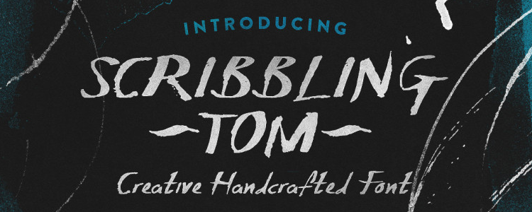 Scribbling Tom Hand-Crafted Font