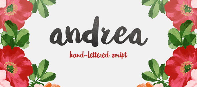 Andrea Hand-Lettered Script