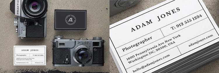 Vintage Cameras B-Cards MockUp Templates