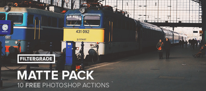 10 Matte Photoshop Actions Pack