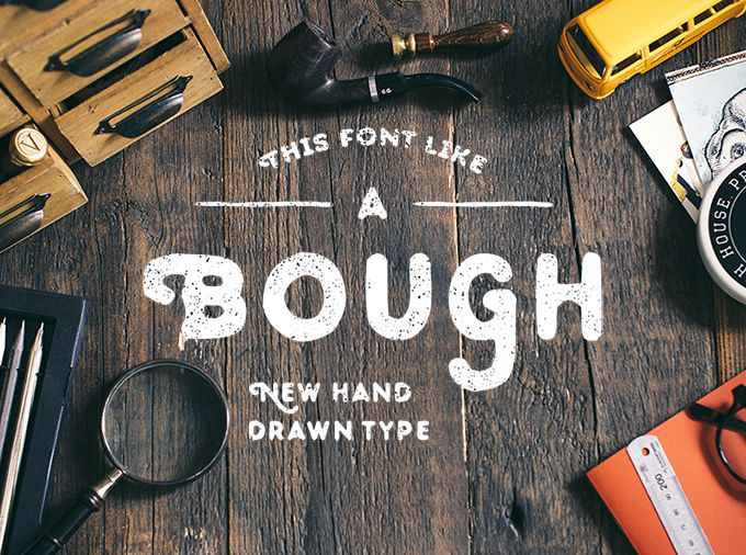 Bough Hand-Drawn Typeface free font