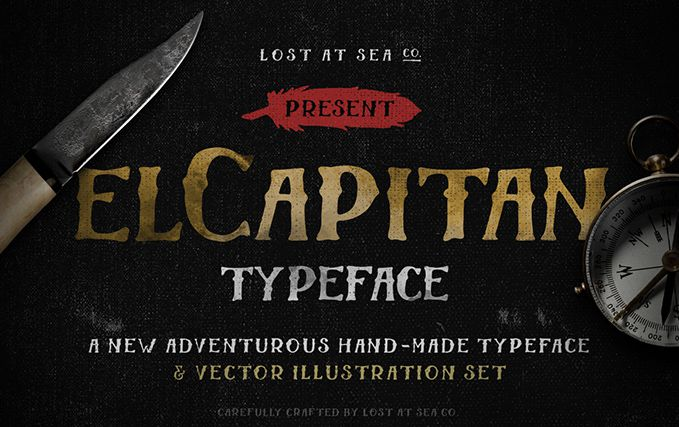 El Capitan Hand-Drawn free Font