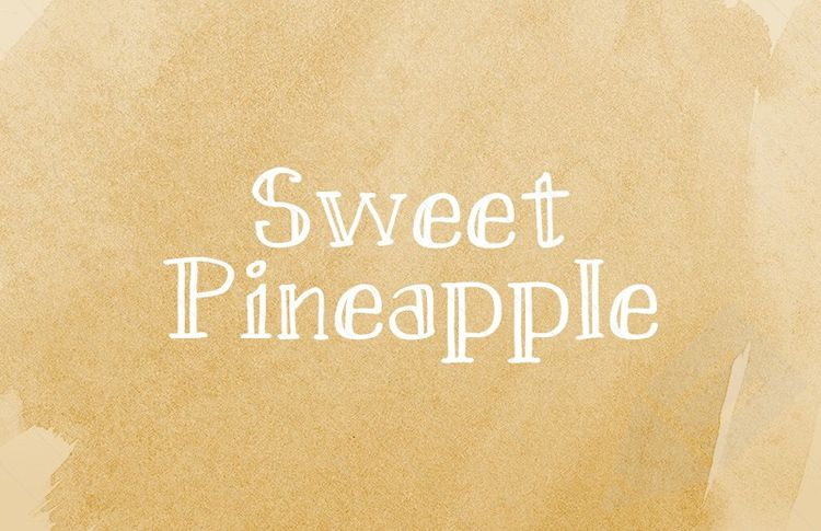 Sweet Pineapple Hand Drawn Free Serif