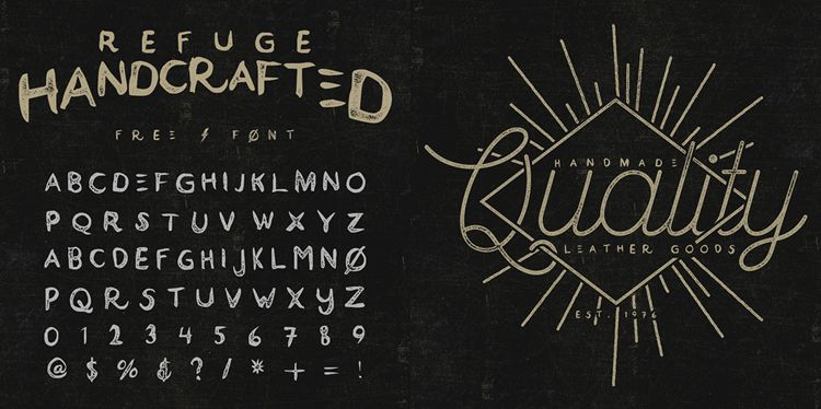 Refuge Handcrafted Typeface free